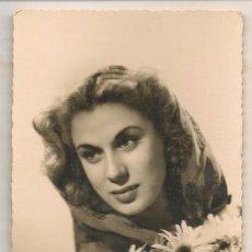 Fotografía antigua: FOTO: BELLA MUJER CON FLORES. FOTOGRAFO: CUNA 31. SEVILLA 16 JULIO 1948.(C/A23). Lote 99154891