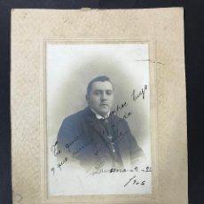 Fotografía antigua: ANTIGUA FOTO DE PERSONAJE CORDOBES, LUCENA (CORDOBA) 1906 - FOTOGRAFO MOLINA, CORDOBA.. Lote 99179599