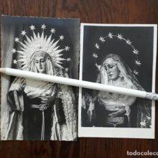 Fotografía antigua: 2 ANTIGUAS FOTOGRAFÍAS DE NUESTRA SEÑORA DE LAS AMARGURAS PUERTO DE LA CONCEPCIÓN HUELVA. Lote 131520370