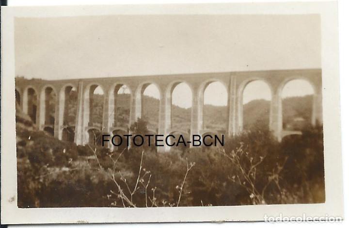 FOTO ORIGINAL PUENTE DEL TREN CAPÇANES CAPSANES PANTANO DE GUIAMETS PRIORAT TARRAGONA AÑOS 30 (Fotografía Antigua - Fotomecánica)