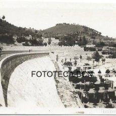 Fotografía antigua: FOTO ORIGINAL PANTANO POSIBLEMENTE RIUDECANYES BAIX CAMP TARRAGONA AÑOS 30. Lote 99264827