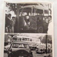 Fotografía antigua: FOTOGRAFÍA FOTO DE PRENSA. ACCIDENTE MÚLTIPLE AUTOBÚS SEAT 1500. MADRID.. Lote 99291987