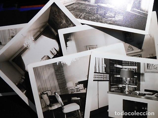 LOTE 6 FOTOGRAFIAS MUEBLES DISTINTAS HABITACIONES. (Fotografía Antigua - Fotomecánica)