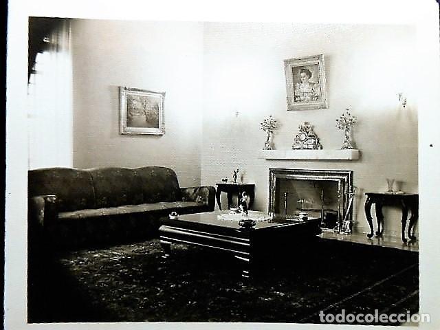 Fotografía antigua: LOTE 6 FOTOGRAFIAS MUEBLES DISTINTAS HABITACIONES. - Foto 4 - 99663299