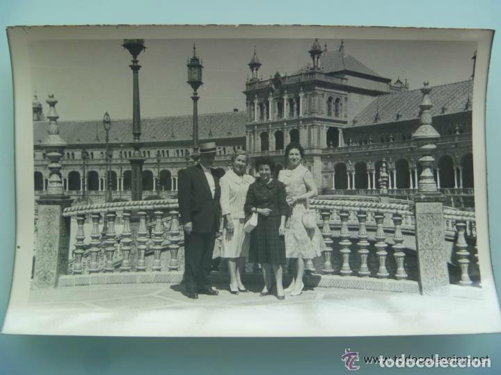 MINUTERO DEL FOTOGRAFO DEL PARQUE DE Mª LUISA DE SEVILLA, 1959: FAMILIA PLAZA ESPAÑA (Fotografía Antigua - Fotomecánica)