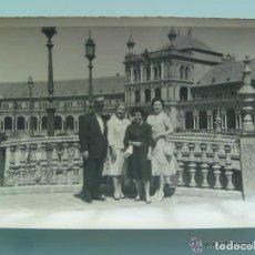 Fotografía antigua - MINUTERO DEL FOTOGRAFO DEL PARQUE DE Mª LUISA DE SEVILLA, 1959: FAMILIA PLAZA ESPAÑA - 99860035