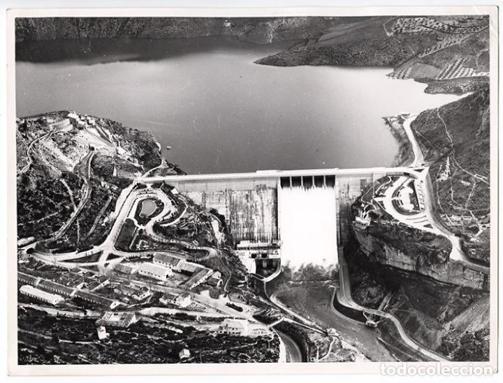 ANTIGUA FOTO DEL EMBALSE DE ENTREPEÑAS, RÍO TAJO, GUADALAJARA - 1968 - COPIA VINTAGE (Fotografía Antigua - Fotomecánica)