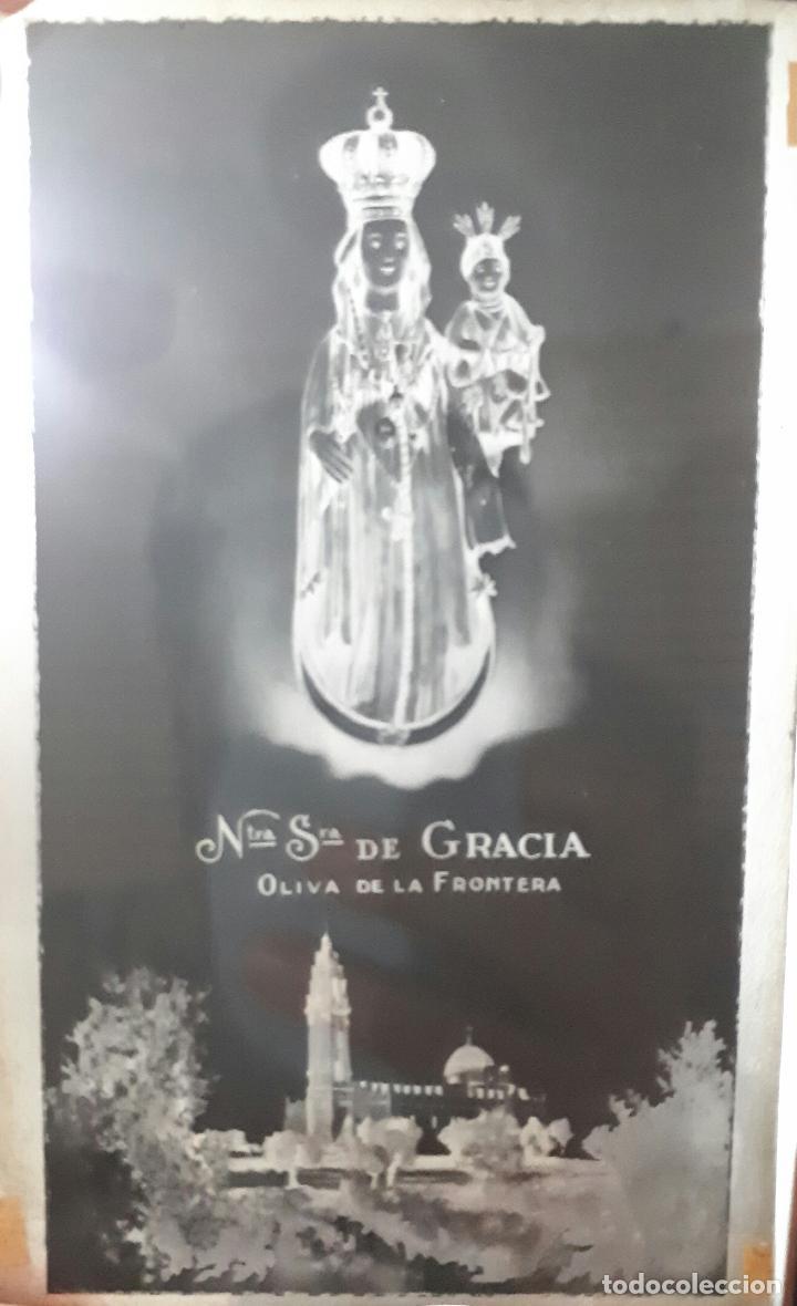 CLICHÉ ORIGINAL DE N. SEÑORA DE GRACIA PATRONA DE OLIVA DE LA FRONTERA BADAJOZ NEGATIVO EN CRISTAL (Fotografía Antigua - Fotomecánica)