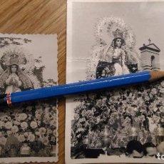 Fotografía antigua: CUMBRES MAYORES HUELVA 2 ANTIGUAS FOTOS NTRA SRA DE LA ESPERANZA. Lote 100472963