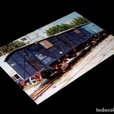 Fotografía antigua: FOTOGRAFÍA ORIGINAL VAGÓN CERRADO *J* 303712 RENFE, VALENCIA 24-IX-1992. TAMAÑO 10 X 15.. Lote 101134599