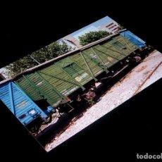 Fotografía antigua: FOTOGRAFÍA ORIGINAL VAGÓN CERRADO VSO-1122 RENFE, VALENCIA 24-IX-1992. TAMAÑO 10 X 15.. Lote 101135171