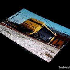 Fotografía antigua: FOTOGRAFÍA ORIGINAL LOCOMOTORA 269 GATO MONTÉS, RENFE, DEP. FUENCARRAL 9-VIII-1991. TAMAÑO 10 X 15.. Lote 101137167