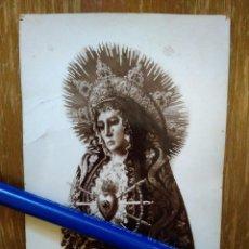Fotografía antigua: ANTIGUA FOTO DE LA VIRGEN DE LOS DOLORES LA CORUÑA. Lote 101192139