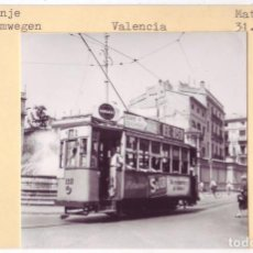 Fotografía Tranvía de Valencia: Plaza de la Virgen (1961)