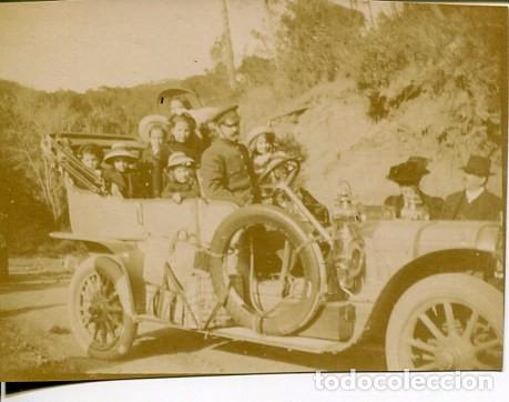 BARCELONA- EXCURSIÓN COCHE HISPANO SUIZA - 11-4-1909 6X8 CMS. (Fotografía Antigua - Fotomecánica)