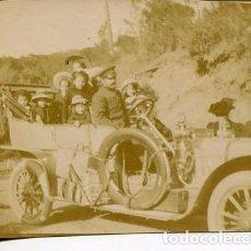 Fotografía antigua: BARCELONA- EXCURSIÓN COCHE HISPANO SUIZA - 11-4-1909 6X8 CMS.. Lote 102421907