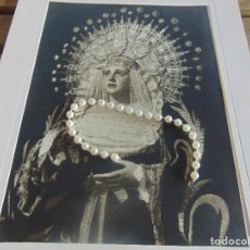 Fotografía antigua: FOTOGRAFIA FOTO SEMANA SANTA DE SEVILLA FORMATO GRANDE VIRGEN CONCEPCION DE LA TRINIDAD. Lote 102936587