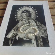 Fotografía antigua: FOTOGRAFIA FOTO SEMANA SANTA DE SEVILLA FORMATO GRANDE VIRGEN DE LA AURORA. Lote 102939187