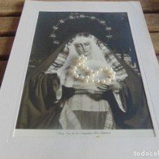 Fotografía antigua: FOTOGRAFIA FOTO SEMANA SANTA DE SEVILLA FORMATO GRANDE VIRGEN DE LAS ANGUSTIAS LOS GITANOS. Lote 102939755