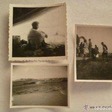 Fotografía antigua: LOTE 3 FOTOS EXPEDICION POR EL SAHARA Y CABO JUBY. CAPITAN PATO , 1948. Lote 102946527