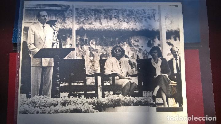 FOTO SS.MM JUAN CARLOS I-PUERTO RICO AÑO 87 (Fotografía Antigua - Fotomecánica)