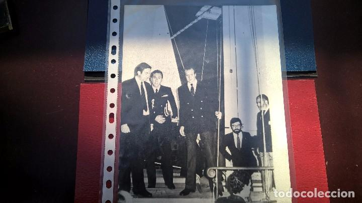 FOTO SS.MM JUAN CARLOS I-SALON NAUTICO 1982 (Fotografía Antigua - Fotomecánica)