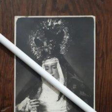 Fotografía antigua: ANTIGUA FOTOGRAFIA DE NUESTRA SEÑORA DE LOS DOLORES MORON DE LA FRONTERA SEVILLA . Lote 103886895