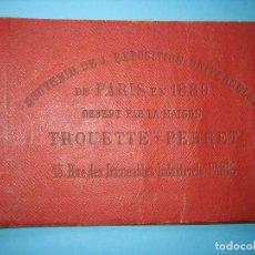 Fotografía antigua: EXPOSICION UNIVERSAL PARIS 1889 LIBRITO CON 12 HELIOGRABADOS GENTILEZA LABORATORIOS TROUETTE PERRET. Lote 103890243