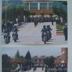 Fotografía antigua: GUARDIA CIVIL : LOTE DE 2 FOTOS DE MOTORISTA DE LA GUARDIA CIVIL DESFILANDO. Lote 103893699