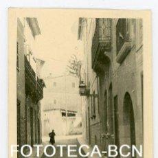 Fotografía antigua: FOTO ORIGINAL MALLORCA CALLE CASAS AÑO 1945. Lote 104278631