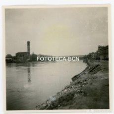 Fotografía antigua: FOTO ORIGINAL TORTOSA PUENTE SOBRE EL RIO EBRO AÑOS 30. Lote 104381275