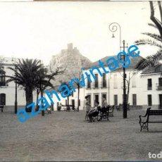 Fotografía antigua: BELMEZ, CORDOBA, ANTIGUA FOTOGRAFIA PLAZA DEL PUEBLO, 14X9 CMS. Lote 104543263