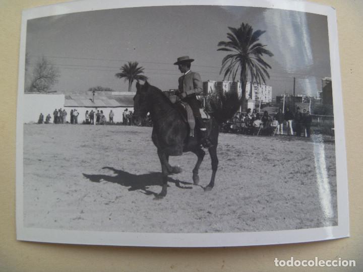 FOTO DE CAMPERO A CABALLO, DOMA VAQUERA O SIMILAR (Fotografía Antigua - Fotomecánica)
