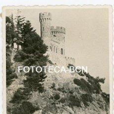 Fotografía antigua: FOTO ORIGINAL LLORET DE MAR CASTILLO AÑOS 40/50. Lote 104777235