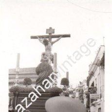 Fotografía antigua: SEMANA SANTA SEVILLA, ANTIGUA FOTOGRAFIA PASO CRISTO HERMANDAD DE LA HINIESTA,105X75MM. Lote 104780355