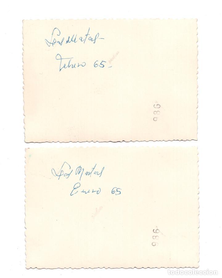 Fotografía antigua: 2 FOTOGRAFÍAS PANORAMICAS LAS MATAS MADRID 1965 - 10,5 X 7 CM - Foto 2 - 104914263