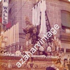 Fotografía antigua: SEMANA SANTA SEVILLA, 1977, LA SOLEDAD DE SAN LORENZO, 125X90MM. Lote 105019355