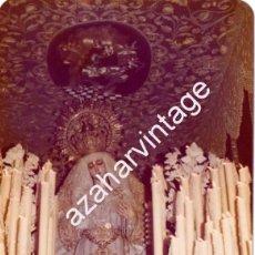 Fotografía antigua: SEMANA SANTA SEVILLA, 1977, LA VIRGEN DEL ROSARIO, HERMANDAD DE MONTESION, 125X90MM. Lote 105019543