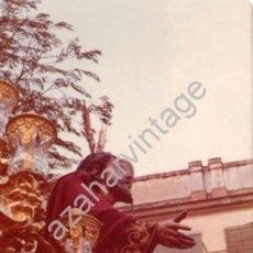 Fotografía antigua: SEMANA SANTA SEVILLA, 1977, MISTERIO HERMANDAD DE MONTESION, 125X90MM. Lote 105019779