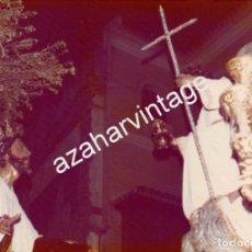Fotografía antigua: SEMANA SANTA SEVILLA, 1977, MISTERIO HERMANDAD DE MONTESION, 125X90MM. Lote 105019827