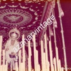 Fotografía antigua: SEMANA SANTA SEVILLA, 1977, VIRGEN DEL VALLE, 125X90MM. Lote 105020103
