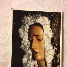 Fotografía antigua: ANTIGUA FOTOGRAFIA VIRGEN DOLORES. Lote 105198639