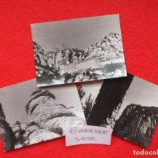 Fotografía antigua: MONSERRAT MONASTERIO LOTE 3 FOTOS FOTOGRAFÍAS B/N AÑOS 60 SANTUARIO ...Nº 12. Lote 107020387