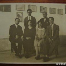 Fotografia antica: FOTO ORIGINAL. GRUPO MAESTROS DE LA REPÚBLICA. MALLORCA. ALGAIDA? HACIA 1932.. Lote 107124699