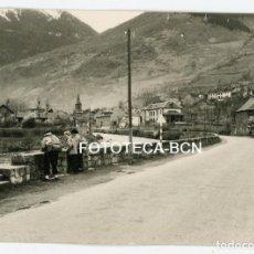 Fotografía antigua: FOTO ORIGINAL VISTA DE BOSOST BOSSOST VALLE DE ARAN LLEIDA AÑO 1959. Lote 107324851