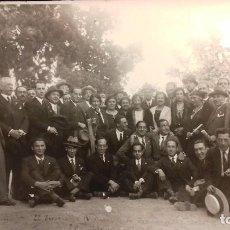 Fotografía antigua: GRUPO DE PROFESIONALES, PROFESORES ? .. EL ESCORIAL MADRID 1932 REPÚBLICA. Lote 107416391