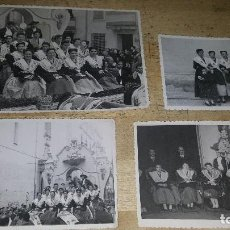 Fotografía antigua: 4 FOTOGRAFIAS DE LAS FIESTAS DE LA MAGDALENA EN CASTELLON, 1946 CABALGATA DEL PREGO. Lote 195187415