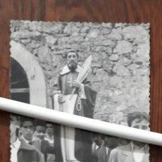 Fotografía antigua: ANTIGUA FOTOGRAFIA DE FRAY MELCHOR GARCIA SAMPEDRO EN PROCESION OVIEDO ASTURIAS . Lote 107751135