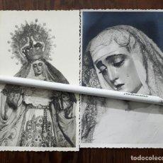 Fotografía antigua: 2 ANTIGUAS FOTOGRAFIAS DE NUESTRA SEÑORA DEL ROSARIO SEVILLA. Lote 107853535