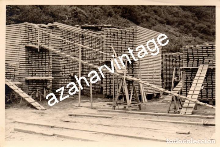 MADERAS DEL VALLE DE ARAN.APEFSA.12X18.SOBRE 1960.SERRERIA DE BOSOST.ABETO SECANDO.LERIDA (Fotografía Antigua - Fotomecánica)
